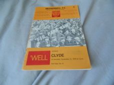 Motherwell v Clyde, 1970/71